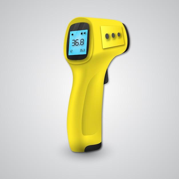 Termômetro infravermelho sem contato realista Vetor grátis