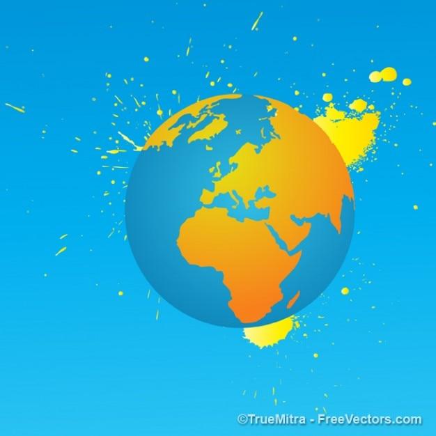 Terra com vetor tinta amarela Vetor grátis