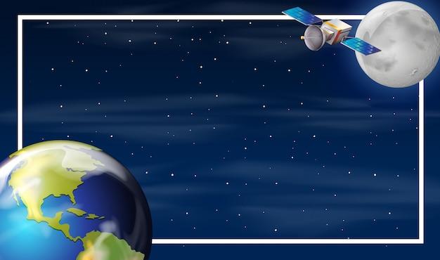 Terra na fronteira do espaço Vetor grátis
