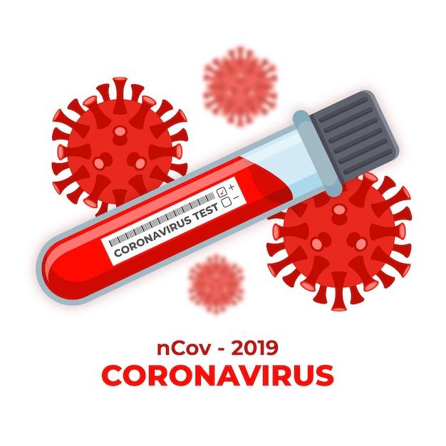 Teste de sangue de coronavírus Vetor grátis