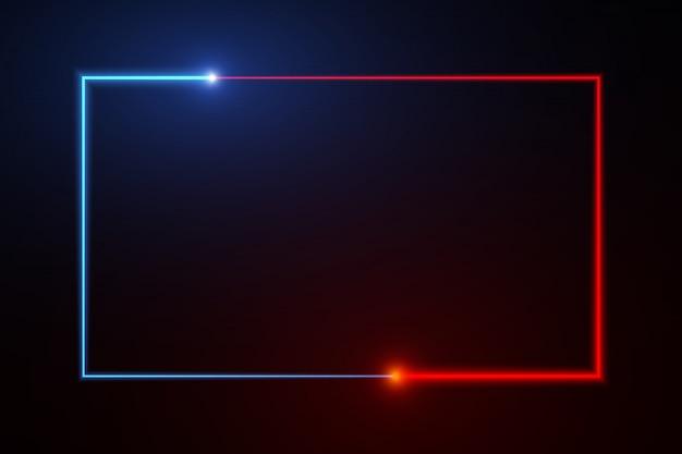 Teste padrão abstrato da caixa de néon da web do fundo telas a tecnologia da projeção. Vetor Premium