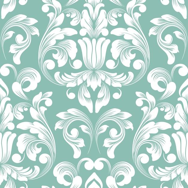 Teste padrão antiquado luxuoso clássico do damasco. Vetor grátis