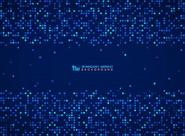 Teste padrão azul moderno do bocado quadrado do fundo futurista do projeto. Vetor Premium