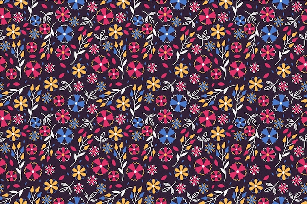 Teste padrão bonito na flor pequena Vetor grátis
