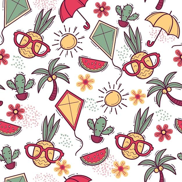 Teste padrão colorido do verão Vetor grátis