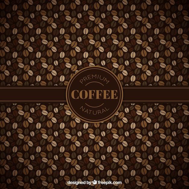 Teste padrão dos feijões de café Vetor grátis