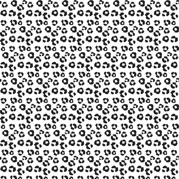 Teste padrão editable da cópia animal Vetor grátis