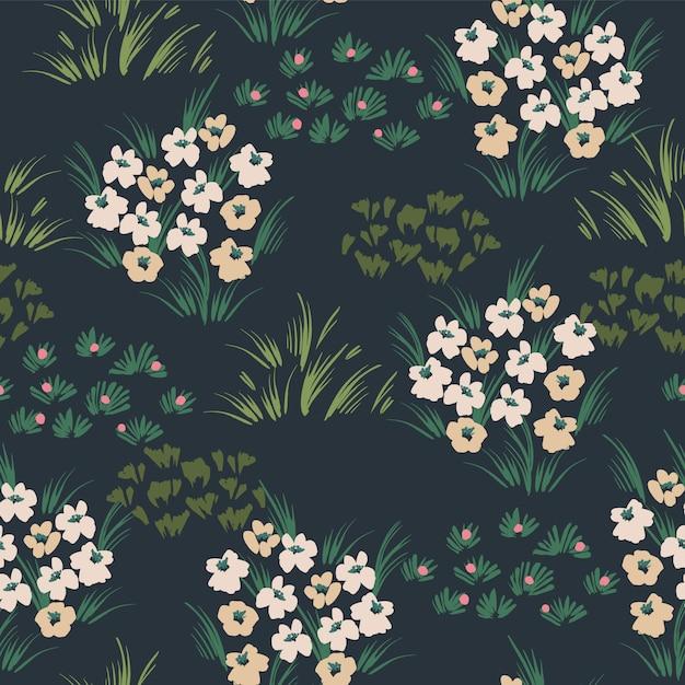 Teste padrão floral abstrato sem emenda. design para diferentes superfícies. Vetor Premium