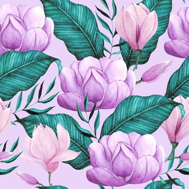 Teste padrão floral aquarela sem emenda Vetor Premium