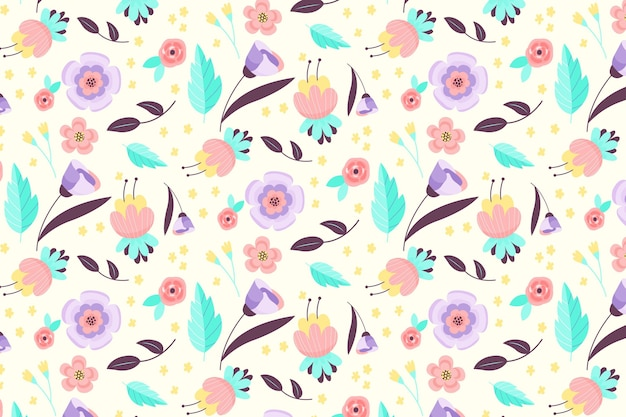 Teste padrão floral bonito Vetor grátis