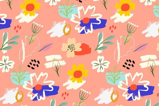 Teste padrão floral clolorful Vetor grátis