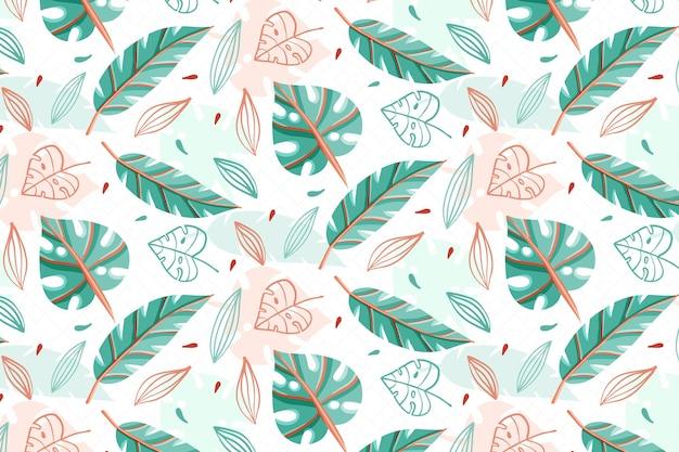 Teste padrão floral colorido Vetor Premium