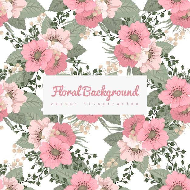Teste padrão floral de fundo - flores da primavera Vetor Premium