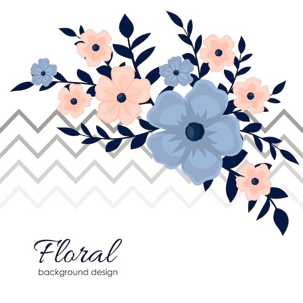 Teste padrão floral fofo na pequena flor. Vetor grátis