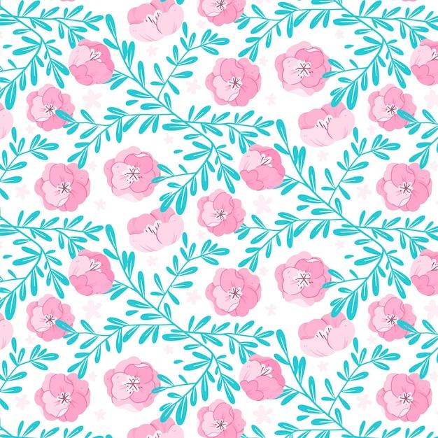 Teste padrão floral pastel Vetor grátis