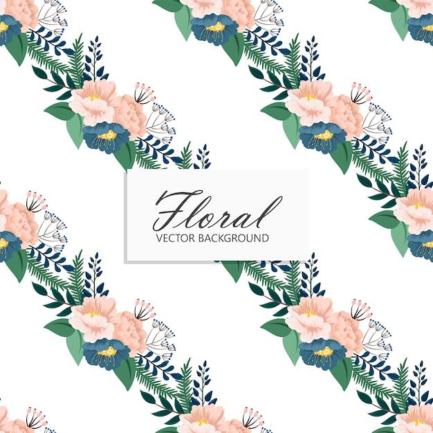 Teste padrão floral sem emenda na moda em Vetor grátis
