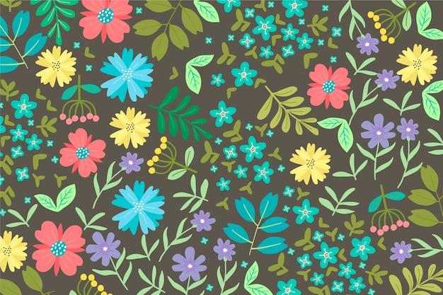 Teste padrão floral servindo colorido Vetor grátis