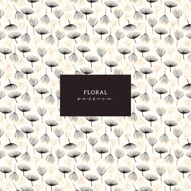 Teste padrão floral simples Vetor grátis