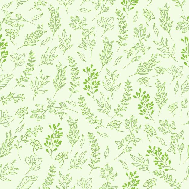 Teste padrão floral vetor em estilo elegante Vetor Premium