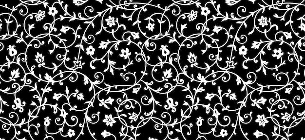 Teste padrão floral vintage. ornamento rico, padrão de estilo antigo para papéis de parede, têxteis, scrapbooking etc. Vetor Premium