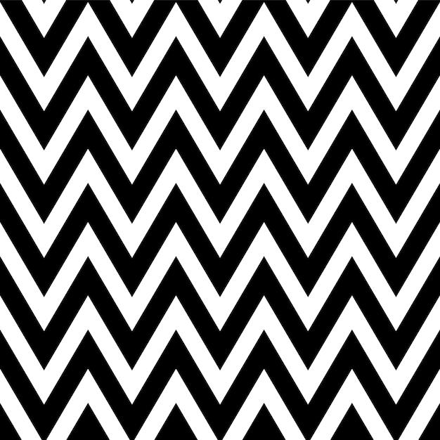 Teste padrão preto e branco no ziguezague. padrão sem emenda de chevron clássico. Vetor Premium