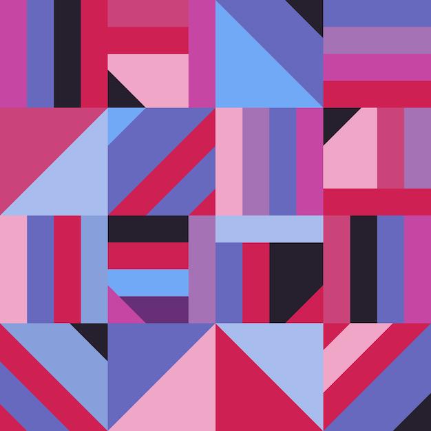 Teste padrão sem emenda da decoração geométrica abstrata da forma. mosaico moderno Vetor Premium