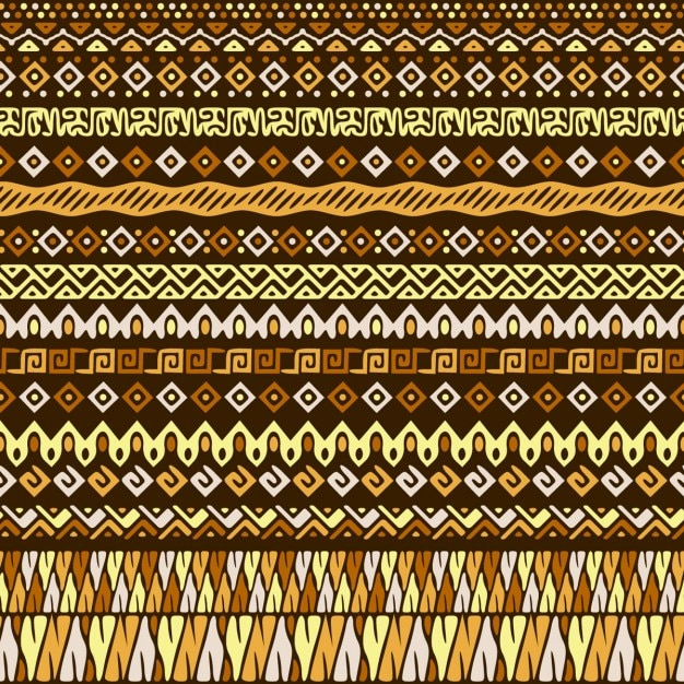 Teste padrão sem emenda tribal do estilo Vetor grátis