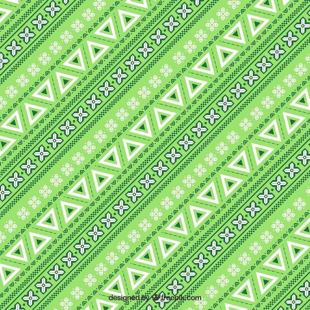 Teste padrão verde no estilo étnico Vetor grátis