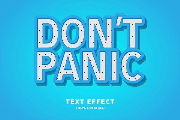 Texto 3d azul com polkadots - efeito de texto, texto editável Vetor Premium