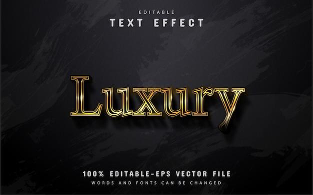 Texto de luxo, efeito de texto estilo ouro Vetor Premium