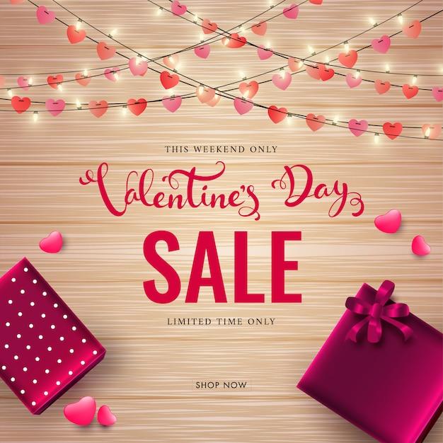 Texto de venda de dia dos namorados Vetor Premium