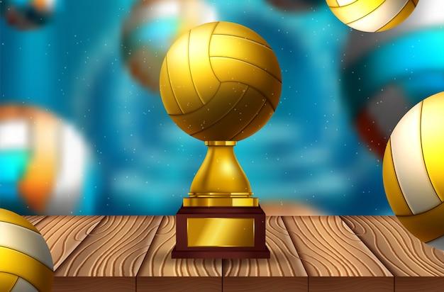 Texto de voleibol em um fundo abstrato Vetor Premium