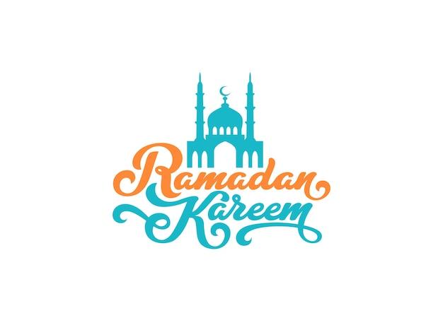 Texto ramadan kareem isolado no branco Vetor grátis