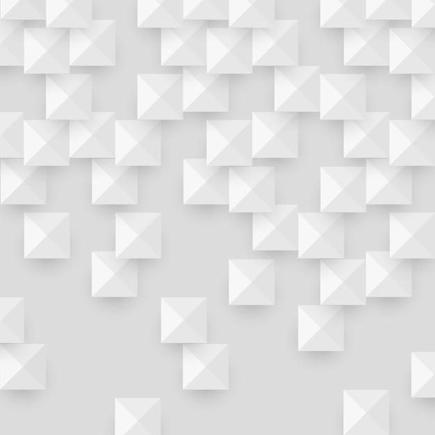Textura abstrata branca com quadrados de forma geométrica Vetor Premium