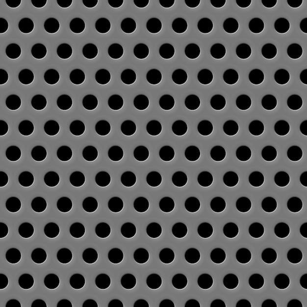 Textura da grade do alto-falante fundo cinza sem costura Vetor grátis