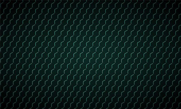 Textura de fibra de carbono hexágono verde escuro textura de metal favo de mel verde fundo de aço Vetor Premium
