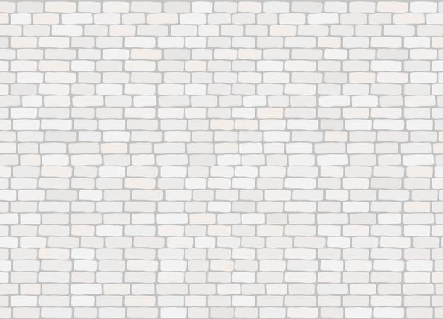 Textura de fundo de parede elegante tijolo branco na moda realista Vetor Premium