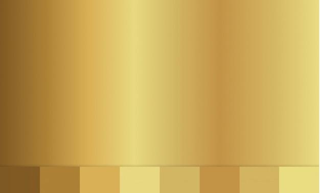 Textura de fundo dourado. ilustração do gradiente. Vetor Premium