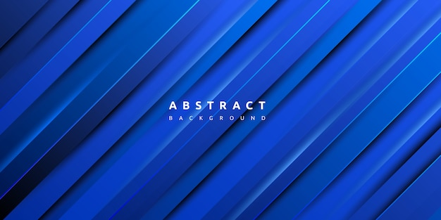 Textura de listras gradiente dinâmico abstrato de fundo azul Vetor Premium