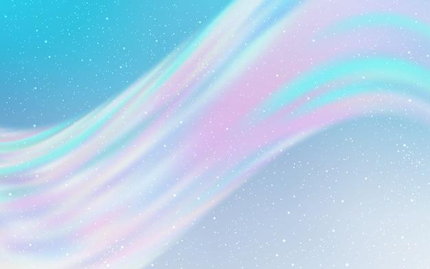 Textura de luz azul vetor com estrelas da via láctea. Vetor Premium