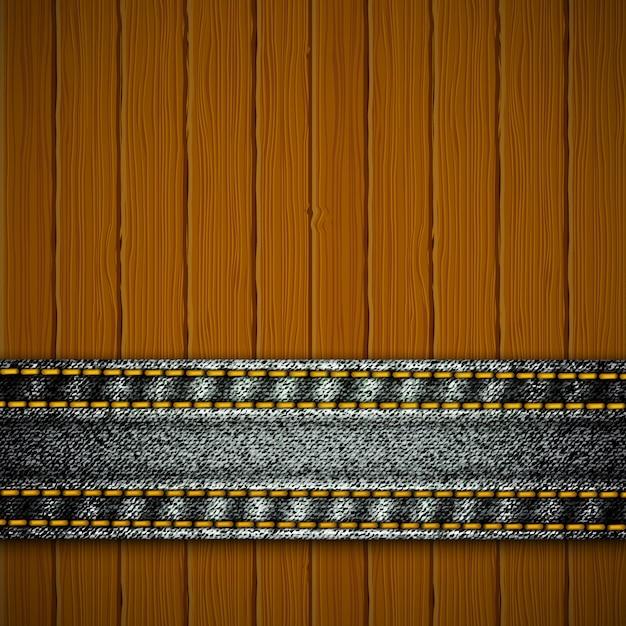 Textura de madeira Vetor Premium