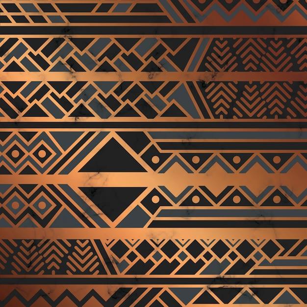 Textura de mármore com linhas geométricas douradas, superfície de mármore preto e branco Vetor Premium