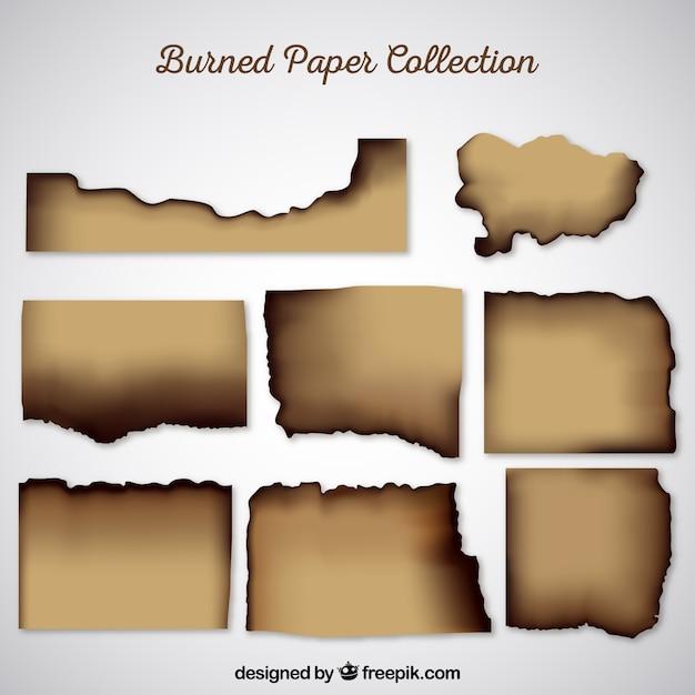Textura de papel queimado realista Vetor grátis