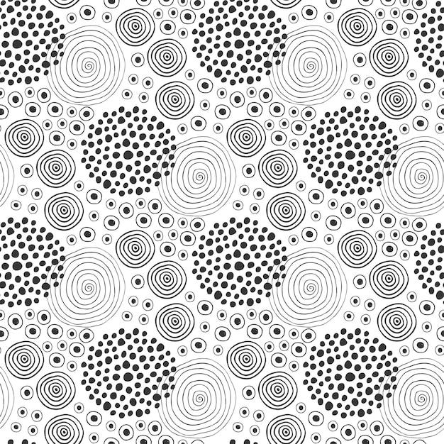Textura de tecido. padrão sem costura de moda. design têxtil. fundo étnico com círculos Vetor Premium