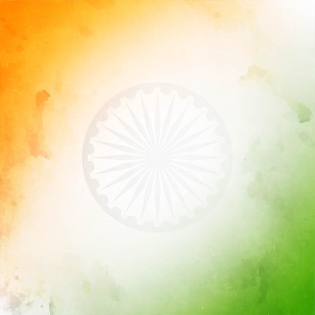 Textura de tema de bandeira indiana tricolor decorativa Vetor grátis