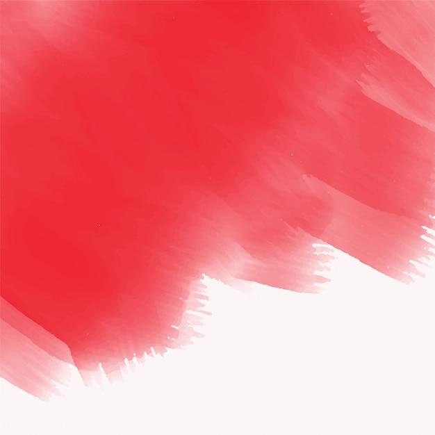 Textura de traçado de pincel vermelho aquarela elegante Vetor grátis