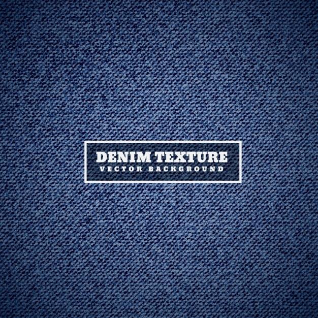 Textura denim em azul Vetor grátis