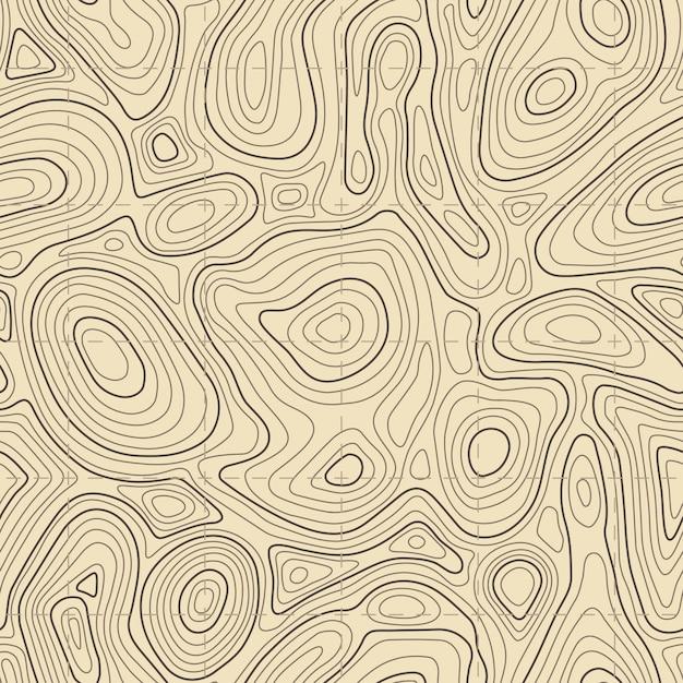 Textura do mapa topográfico sem emenda Vetor Premium