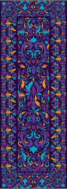 Textura do tapete persa. design de tapete tradicional do oriente médio Vetor Premium