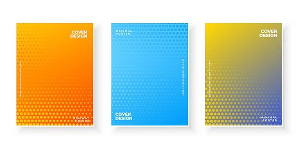 Textura gradiente abstrata colorida para conjunto de cobertura mínima Vetor grátis